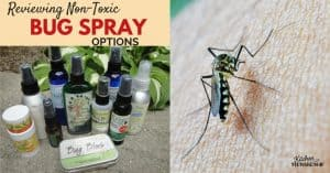 Big Review of Natural Insect Repellent Options - no DEET here, safe for kids and adults!
