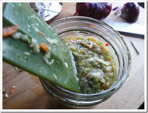 Making fermented kimchi