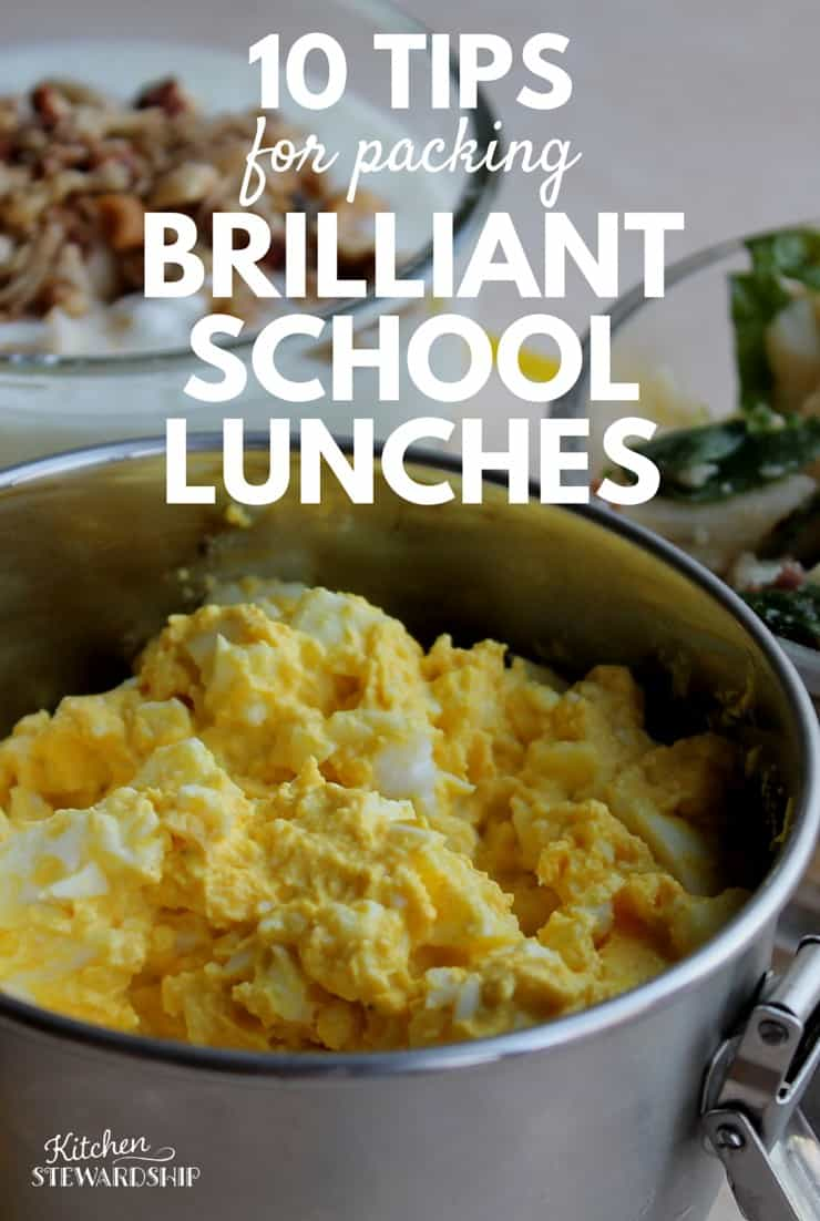 10 TIPS for packing brilliant school lunches
