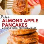 Paleo Almond Apple Pancakes