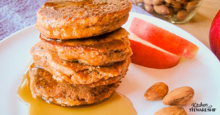 grain-free almond apple pancakes (no fancy flours needed)