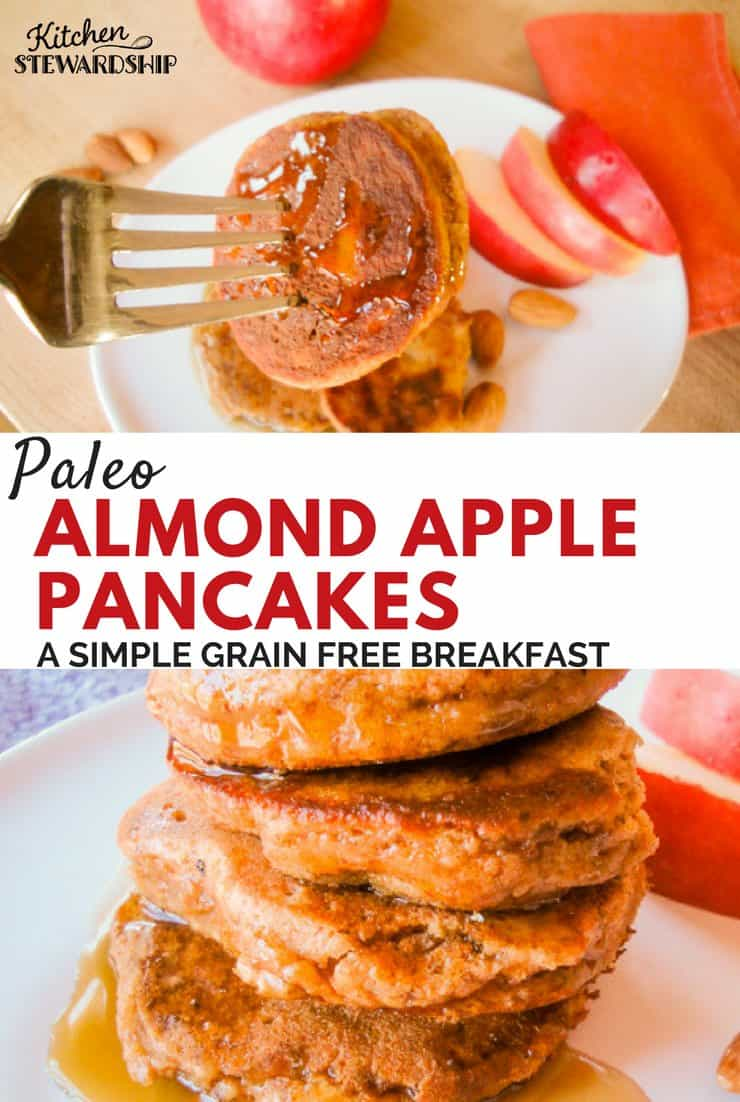 Paleo, grain free and oh so delcious! These almond apple panackes will be a hit with the whole family.