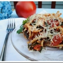 Recipe Connection: Tomato Basil Einkorn Pasta with Greens