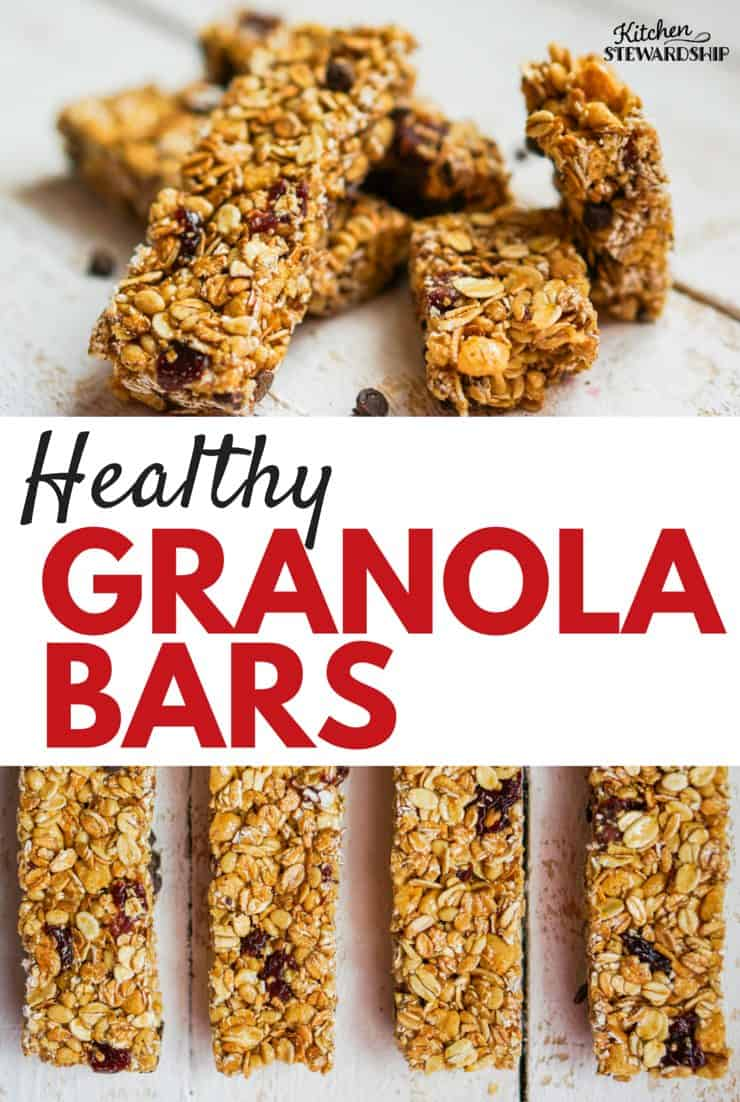 Skip the box! These healthy homemade granola bars are easy to make, sweet and chewy...but without the refined sugar or junk.