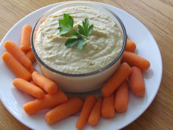 This blender hummus recipe is incredibly easy and much more frugal than buying hummus in the store. Other healthy kid-friendly snack ideas, too!