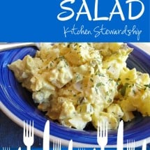 {Recipe Classic} Homemade Potato Salad, Simple Real Food Style