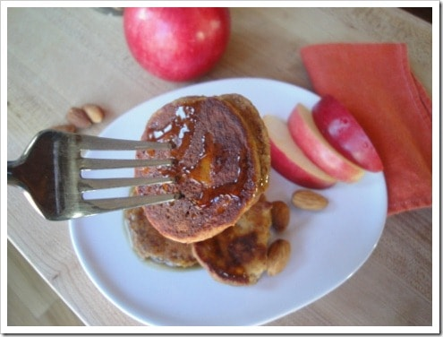 Grain Free Almond Apple (Paleo) Pancakes :: via Kitchen Stewardship