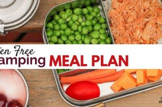 Keep your next camping trip fun and nourishing with this doable gluten free meal plan.