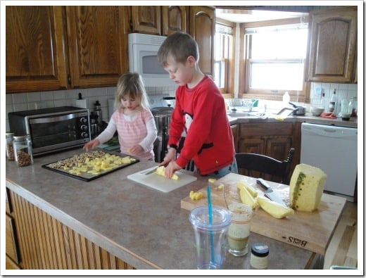 cutting pineapple to dehydrate (2) (500x375)