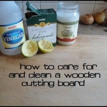 Care and Cleaning of Wooden Cutting Boards