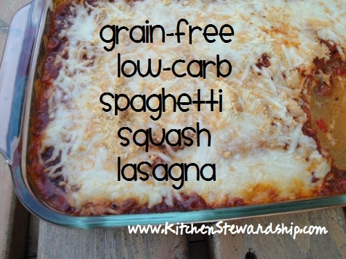 low-carb spaghetti squash lasagna recipe