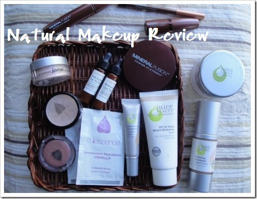 I review many top brands of natural makeup - which is your favorite? Non-toxic makeup that's free of chemicals that can wreak havoc in your body - brands like Mineral Fusion, Juice Beauty, Miessence, Physician's Formula, Marie Veronique, and Jane Cosmetics.