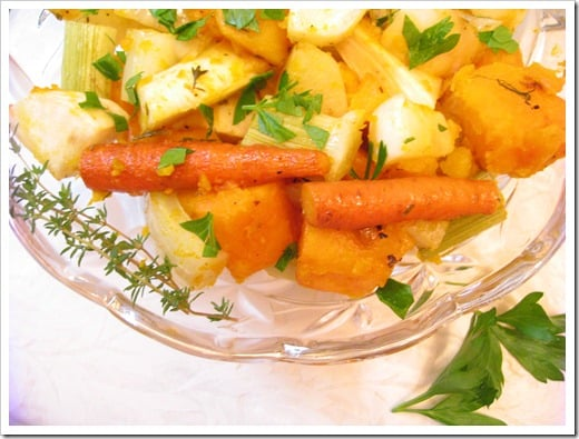 roasted fall winter root vegetables