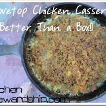 "Creamy Stovetop Stuffing Chicken Casserole with NO Stovetop! {FREE DOWNLOAD} from ""Better Than a Box"""