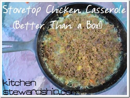 BTAB Stovetop Chicken Casserole 2