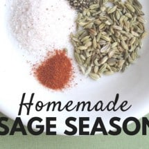 How to Make Homemade Sausage Seasoning