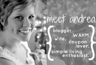 Andrea Dekker - blogger, WAHM, wife, coupon lover, simple living enthusiast