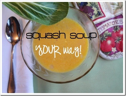 build your own squash soup