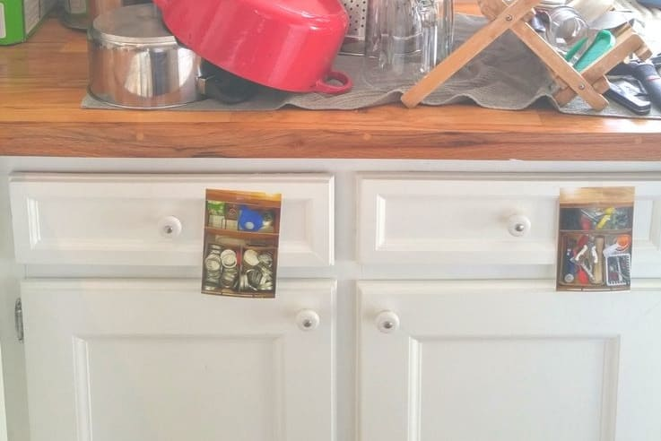 label your drawers with photos for kids