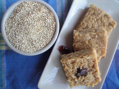 Quinoa Peanut Butter Protein Bars