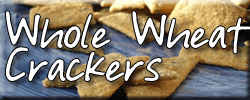healthy whole wheat homemade crackers