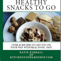 Healthy Snacks to Go is Sitting on my Kitchen Table