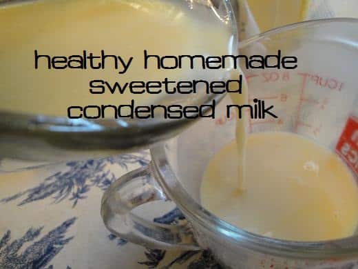 How to Make Homemade Sweetened Condensed Milk Substitute Without Powdered Dry Milk | Kitchen Stewardship | A Baby Steps Approach to Balanced Nutrition