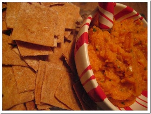sweet potato garlic dip smaller