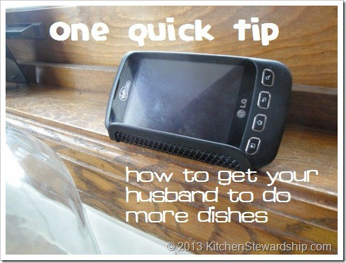 How to Get Your Husband to do More Dishes - One Quick Tip