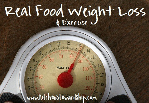 A scale - real food weight loss and exercise