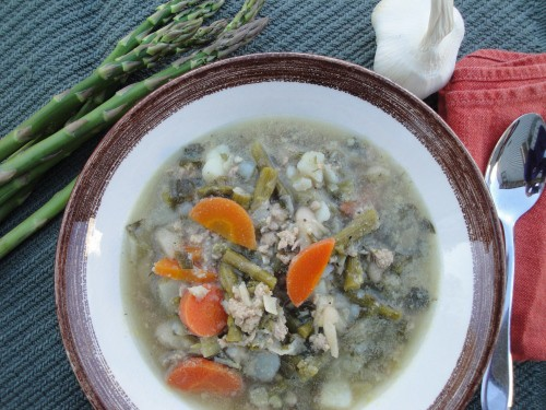 sausage leek garlic asparagus soup (10) (500x375)