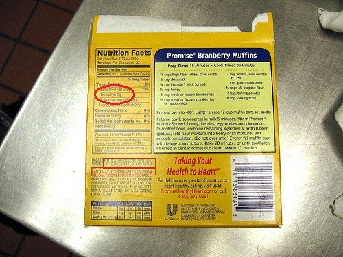 trans fat 0g nutrition label