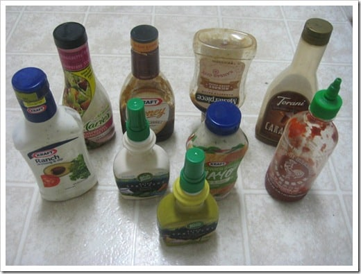trans fats in Various Bottled Dressings and Sauces