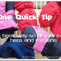 One Quick Tip: How to Keep Winter Hats and Mittens Dry