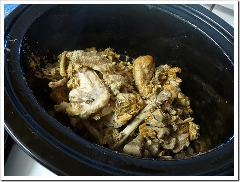 Chicken Bones in Crock Pot
