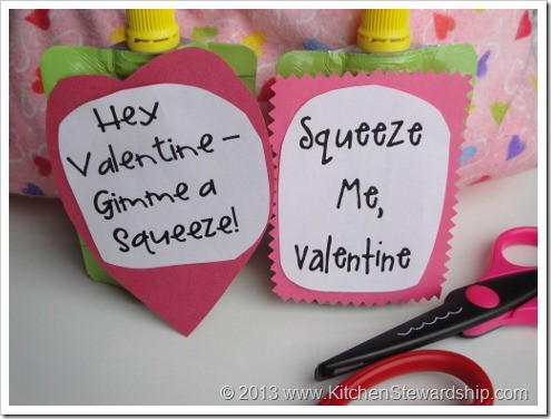 Healthy Valentine's Cards for Kids