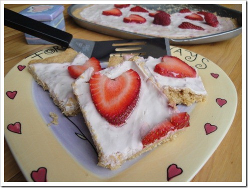 Valentines Fruit Pizza Hearts