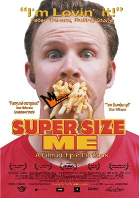 Film poster for Super Size Me documentary