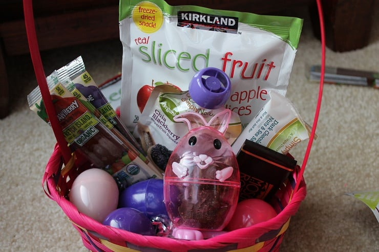 healthier options for Easter basket, no food coloring