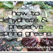 Springtime is Green Time…What to do with Too Much of a Good Thing {Eat Well, Spend Less}