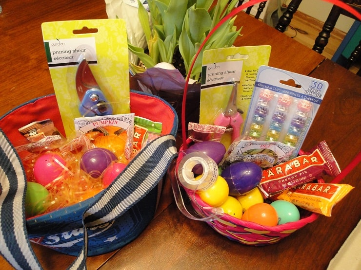 Healthy easter basket ideas without candy no junk either creative garden themed easter baskets negle Gallery