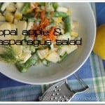 Springtime Asparagus Opal Apple Salad with Fennel and Dill