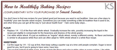 Smart sweets an ebook of healthy desserts to indulge your sweet tooth how to healthify baking recipes fandeluxe Images