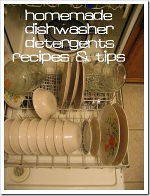 Homemade Dishwasher Detergent Recipes