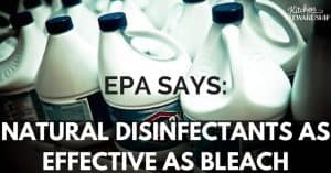 Want to avoid sanitizing with bleach? Here's a perfectly natural alternative that even the EPA says works just as well, plus plenty of ideas for homemade disinfectants.