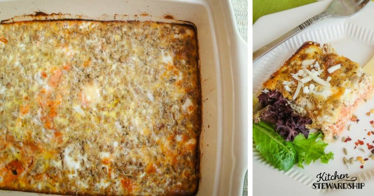 grain-free pizza or salmon quiche