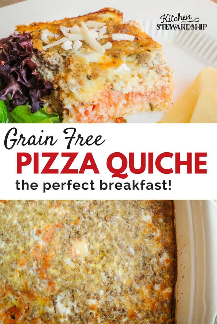 Skip the leftover, cold pizza! This grain free pizza quiche will nourish your body and keep you going all day.