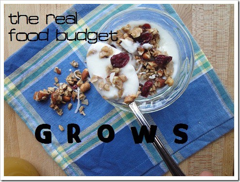 REAL FOOD budget grows