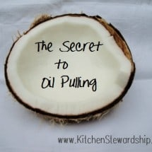 Oil Pulling Tips and Success Stories ~ Do You Swish?