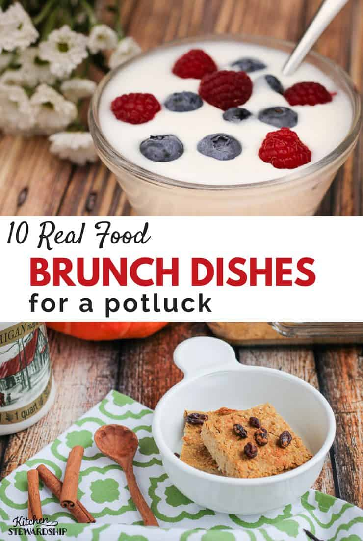 Frugal, homemade potluck brunch ideas! Many are grain-free and hardly any sweetener in sight. Only the best for your next breakfast party.